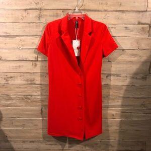 ZARA RED BLAZER DRESS